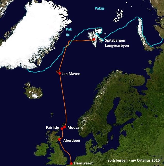 Route Inezia - Ortelius 2015