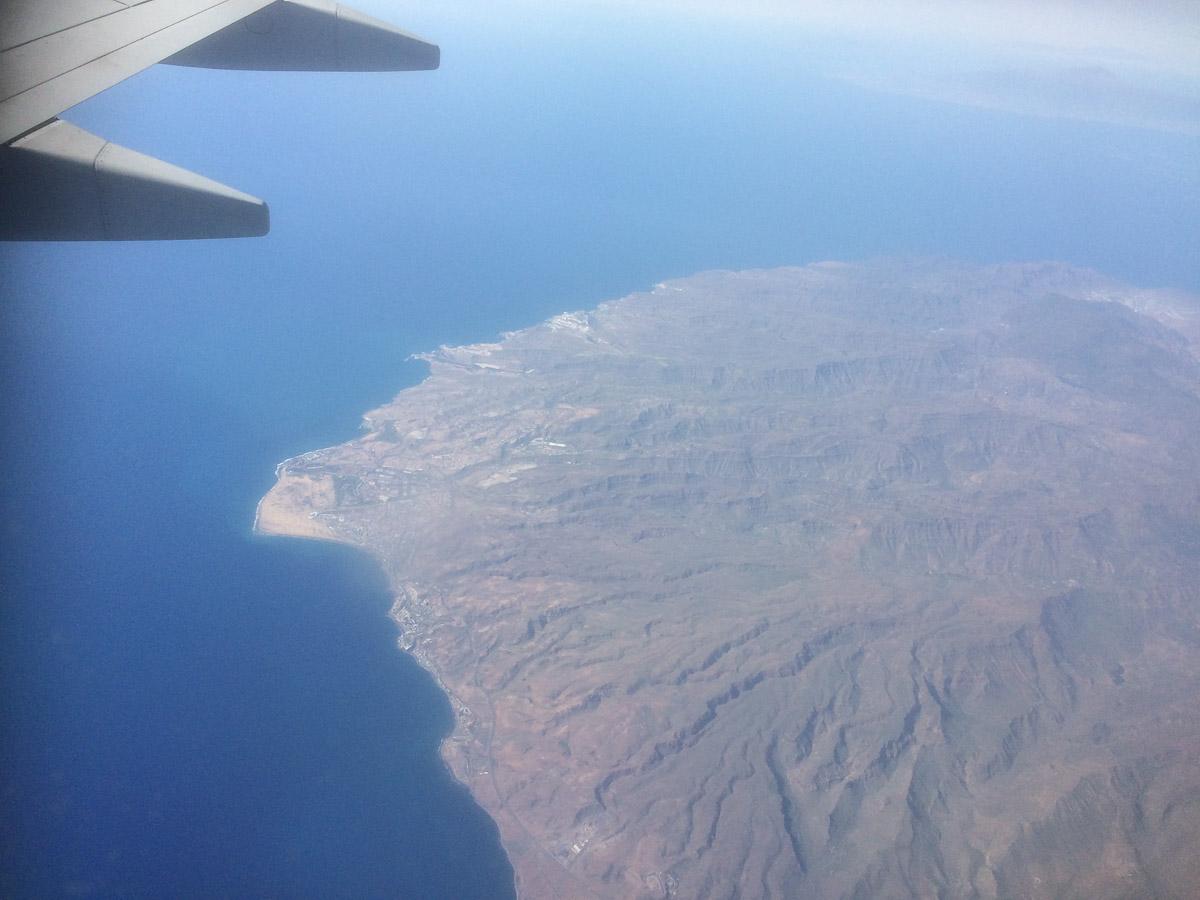 Las Palmas vanuit de hemel